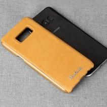 Pierre Cardin Achterkant voor Samsung Galaxy S8 Plus  -  Geel (8719273133750)