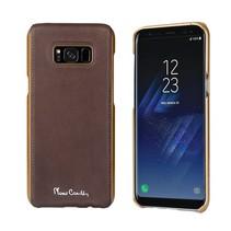 Pierre Cardin Achterkant voor Samsung Galaxy S8 Plus  -  D Bruin (8719273133774)
