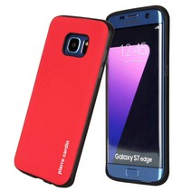 Pierre Cardin silicone backcover Rood voor Samsung Galaxy S7 Edge (8719273131398)