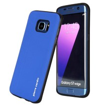 Pierre Cardin silicone backcover Blauw voor Samsung Galaxy S7 Edge (8719273131404)