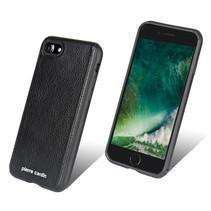 Pierre Cardin Achterkant voor Apple iPhone 7-8 -  Zwart (8719273129456)