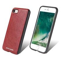 Pierre Cardin Achterkant voor Apple iPhone 7-8 -  Rood (8719273129463)