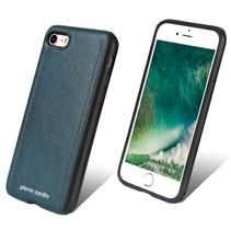 Pierre Cardin Achterkant voor Apple iPhone 7-8 -  Sapphire Blauw (8719273129487)