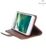 Pierre Cardin Pierre Cardin Booktype voor Apple iPhone 7-8  - Bruin (8719273229422)