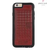 Pierre Cardin Pierre Cardin Achterkant voor Apple iPhone 6  -  Rood (8719273214534)