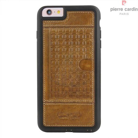 Pierre Cardin Pierre Cardin Achterkant voor Apple iPhone 6 Plus  -  Bruin (8719273214558)