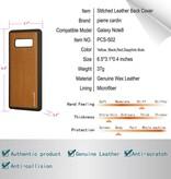 Pierre Cardin Pierre Cardin Achterkant voor Samsung Galaxy Note 8  -  Zwart (8719273140956)