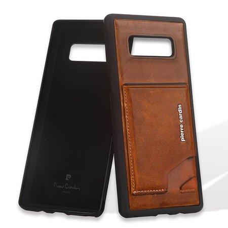 Pierre Cardin Pierre Cardin Achterkant voor Samsung Galaxy Note 8  -  Bruin (8719273141014)