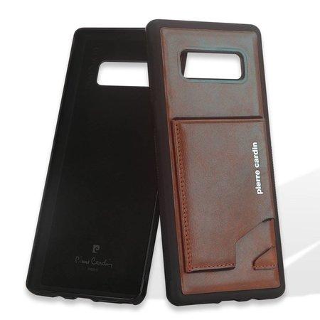 Pierre Cardin Pierre Cardin Achterkant voor Samsung Galaxy Note 8  -  D Bruin (8719273141021)