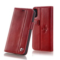 Pierre Cardin Booktype voor Apple iPhone Xs Max  - Rood (8719273277850)