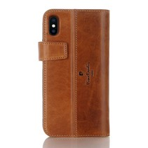 Pierre Cardin Booktype voor Apple iPhone Xs Max  - Bruin (8719273277867)