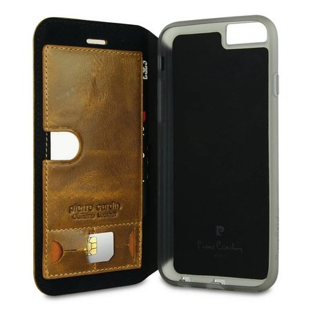 Pierre Cardin Pierre Cardin Booktype voor Apple iPhone 6  - Bruin (8719273215067)