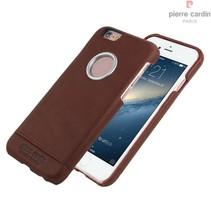 Pierre Cardin Achterkant voor Apple iPhone 6  -  D Bruin (8719273128220)