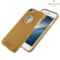 Pierre Cardin Achterkant voor Apple iPhone 6  -  Geel (8719273128237)