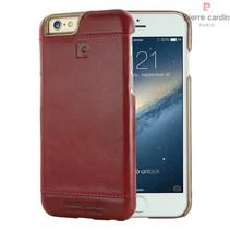 Pierre Cardin Achterkant voor Apple iPhone 6  -  Rood (8719273213568)
