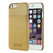 Pierre Cardin Achterkant voor Apple iPhone 6  -  Geel (8719273213926)