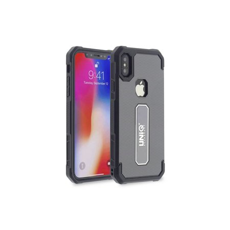 Achterkant voor Apple iPhone X-Xs  -  Grijs (8719273253496)