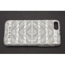 Guess Achterkant voor Apple iPhone 7-8 -  Zilver (3700740386392)