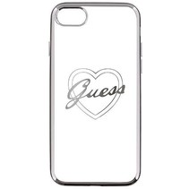 Guess Achterkant voor Apple iPhone 7-8 -  Zilver (3700740386538)