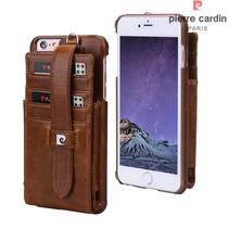 Pierre Cardin Achterkant voor Apple iPhone 6 Plus  -  Bruin (8719273128855)