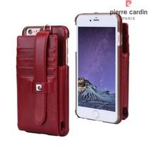 Pierre Cardin Achterkant voor Apple iPhone 6 Plus  -  Rood (8719273128862)