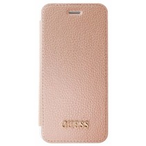 Guess Booktype voor Apple iPhone 7-8  - RoseGold (3700740397848)