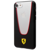 Ferrari Achterkant voor Apple iPhone 7-8 -  Zwart (3700740395110)