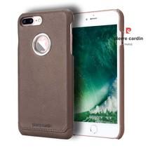 Pierre Cardin Achterkant voor Apple iPhone 7-8Plus  -  D Bruin (8719273130629)