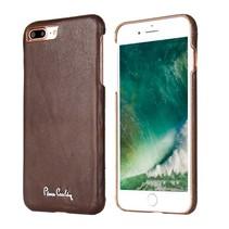 Pierre Cardin Achterkant voor Apple iPhone 7-8Plus  -  D Bruin (8719273130674)