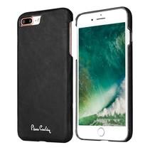 Pierre Cardin Achterkant voor Apple iPhone 7-8Plus  -  Zwart (8719273130698)