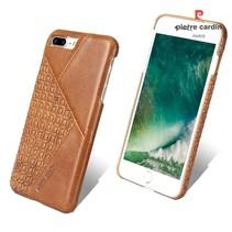 Pierre Cardin Achterkant voor Apple iPhone 7-8Plus  -  Bruin (8719273130599)