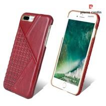 Pierre Cardin Achterkant voor Apple iPhone 7-8Plus  -  Rood (8719273130605)