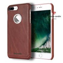 Pierre Cardin Achterkant voor Apple iPhone 7-8Plus  -  Rood (8719273130650)