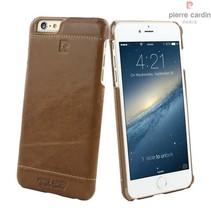 Pierre Cardin Achterkant voor Apple iPhone 6 Plus  -  Bruin (8719273213636)