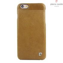 Pierre Cardin Achterkant voor Apple iPhone 6 Plus  -  Bruin (8719273214916)
