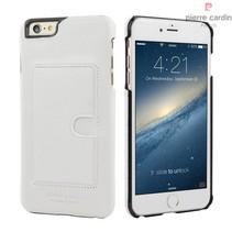 Pierre Cardin Achterkant voor Apple iPhone 6 Plus  -  Wit (8719273214282)