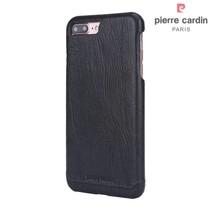 Pierre Cardin Achterkant voor Apple iPhone 7-8Plus  -  Zwart (8719273229347)