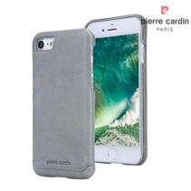 Pierre Cardin Achterkant voor Apple iPhone 7-8 -  Grijs (8719273229323)