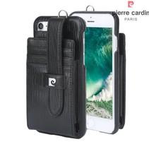 Pierre Cardin Achterkant voor Apple iPhone 7-8 -  Zwart (8719273129739)