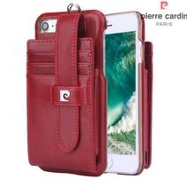 Pierre Cardin Achterkant voor Apple iPhone 7-8 -  Rood (8719273129753)