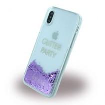 Guess Achterkant voor Apple iPhone X-Xs  -  Paars (3700740407936)