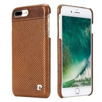 Pierre Cardin Achterkant voor Apple iPhone 7-8 -  Bruin (8719273129715)