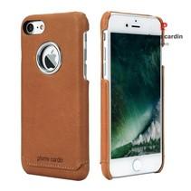 Pierre Cardin Achterkant voor Apple iPhone 7-8 -  Bruin (8719273129814)