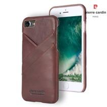 Pierre Cardin Achterkant voor Apple iPhone 7-8 -  Bruin (8719273129975)