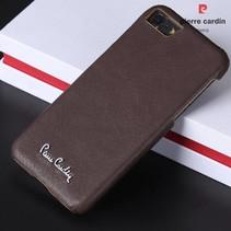 Pierre Cardin Achterkant voor Apple iPhone 7-8 -  D Bruin (8719273129852)