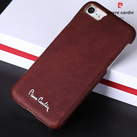 Pierre Cardin Achterkant voor Apple iPhone 7-8 -  Bruin (8719273129883)