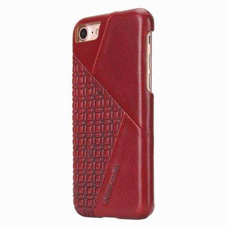Pierre Cardin Achterkant voor Apple iPhone 7-8 -  Rood (8719273129784)
