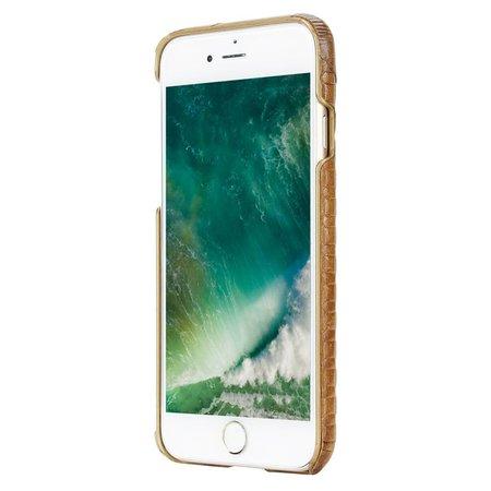 Pierre Cardin Achterkant voor Apple iPhone 7-8 -  Bruin (8719273129777)