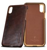 Pierre Cardin Achterkant voor Apple iPhone X-Xs  -  D Bruin (8719273140703)