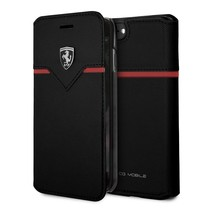 Ferrari Booktype voor Apple iPhone 7-8  - Zwart (3700740398975)